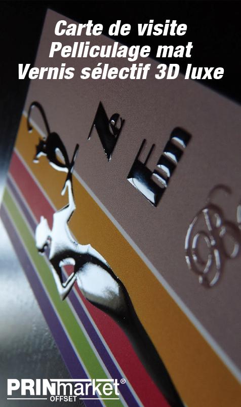 CDV Pelliculage Mat R V Vernis Selectif 3D Luxe