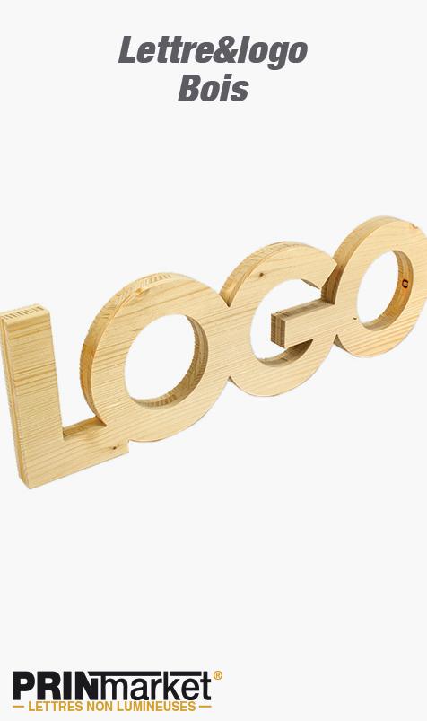 Lettre&logo Bois