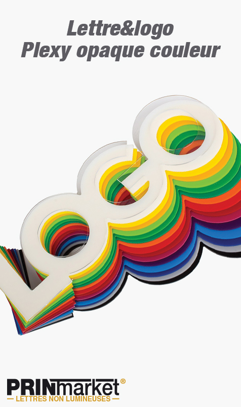 Lettre&logo Plexy opaque couleur<br />3 mm