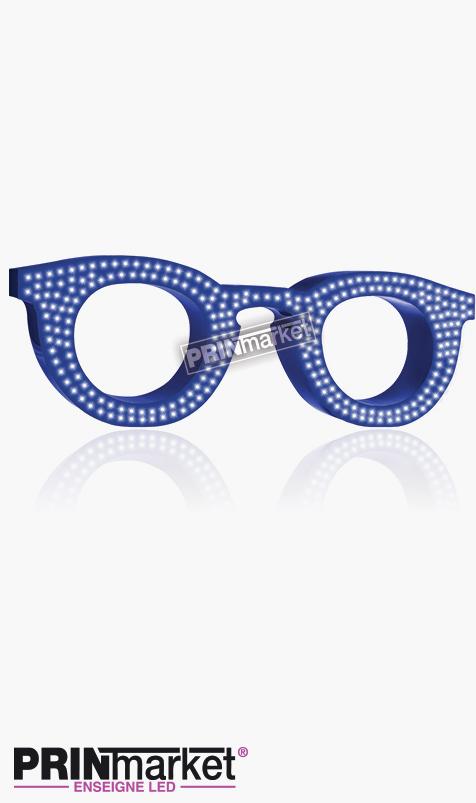 Lunettes LED Paul and Jo Bangali 21, Acier Bleu, Leds Bleues