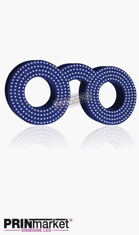 Lunettes LED Classic Ronde, Acier Bleu, Leds Blanches
