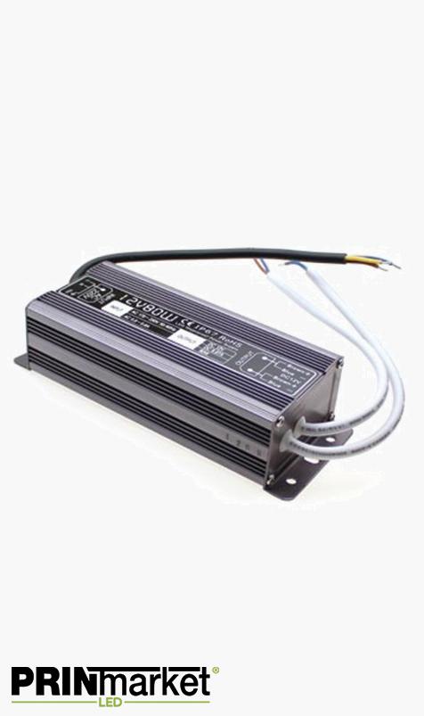 Transformateur LED 12V - 80 watts - Non dimmable - Étanche IP67
