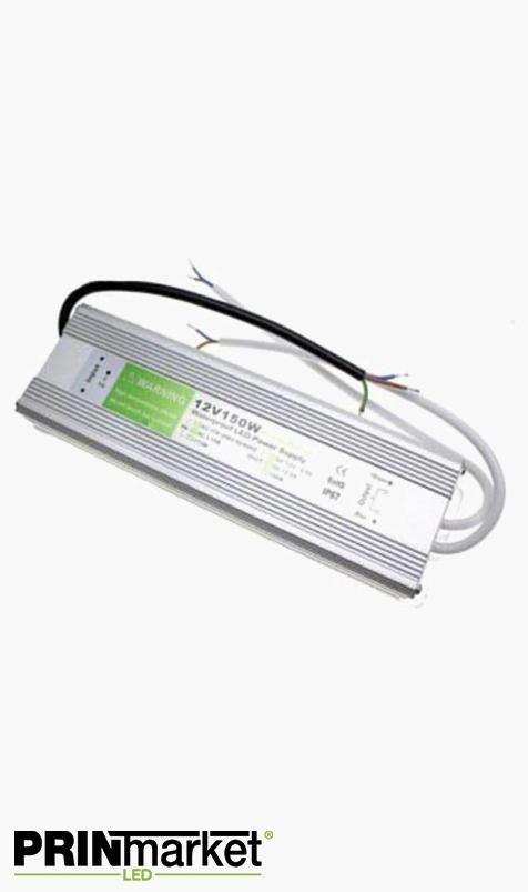 Transformateur LED 12V - 150 watts - Non dimmable - Étanche IP67