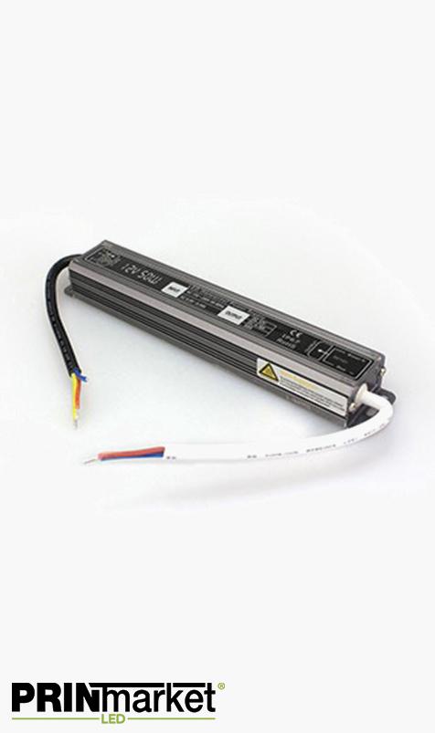 Transformateur LED 12V - 50 watts - Non dimmable - Étanche IP67