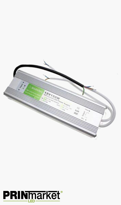 Transformateur LED 12V - 150 watts - Non dimmable - Étanche IP67