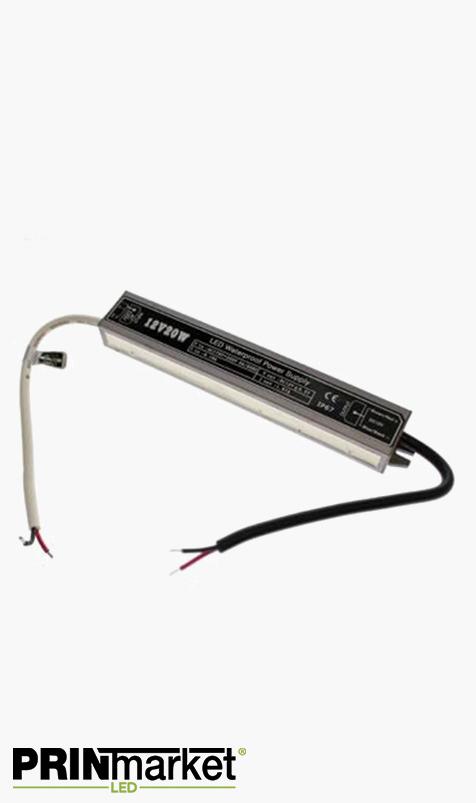Transformateur LED 12V - 20 watts - Non dimmable - Étanche IP67