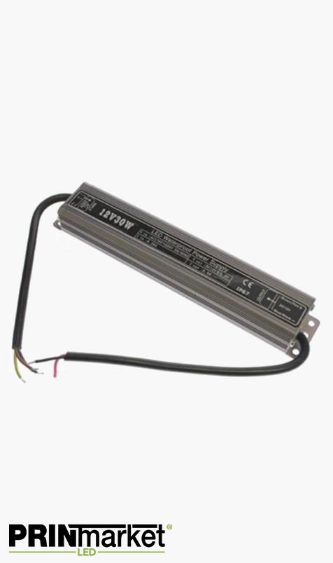 Transformateur LED 12V - 30 watts - Non dimmable - Étanche IP67