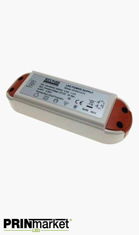 Transformateur LED 12V - 24 watts - Non dimmable - Non étanche