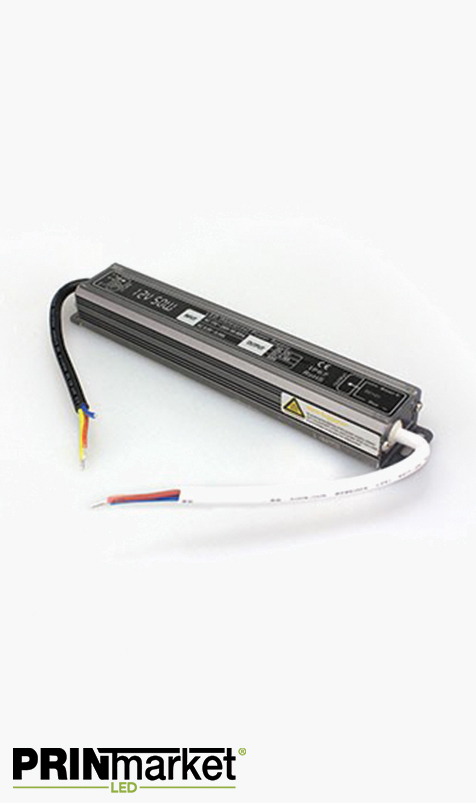 Transformateur LED 12V - 50 watts - Non dimmable - Étanche IP67