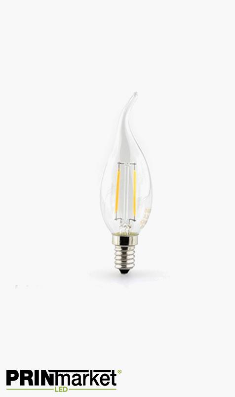 Ampoule LED à filament E14 - 2 watts (équiv. 25w) - Bougie