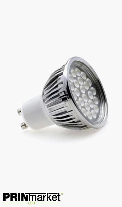 Ampoule LED GU10 - 5 watts (équiv. 60w) - Diffusion moyenne 60°