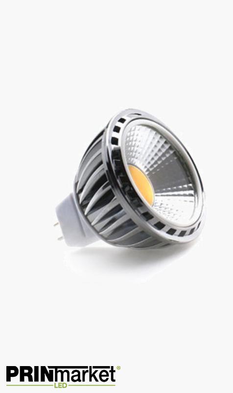Ampoule LED MR16 (GU5.3) COB - 4,5 watts (équiv. 50w) - Diffusion large 90°