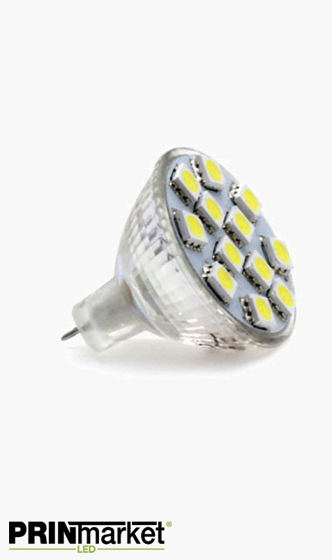 Ampoule LED MR11 - 2,4 watts (équiv. 15w) - Diffusion large 120°