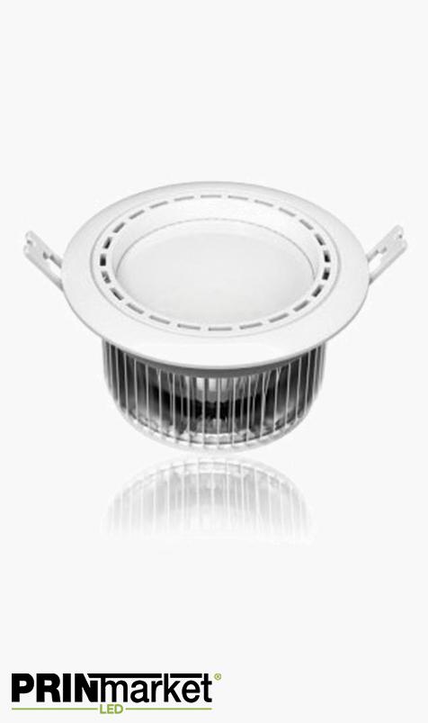 Kit Plafonnier LED encastrable - 12 watts (équiv. 70w) - Diam. 145 mm
