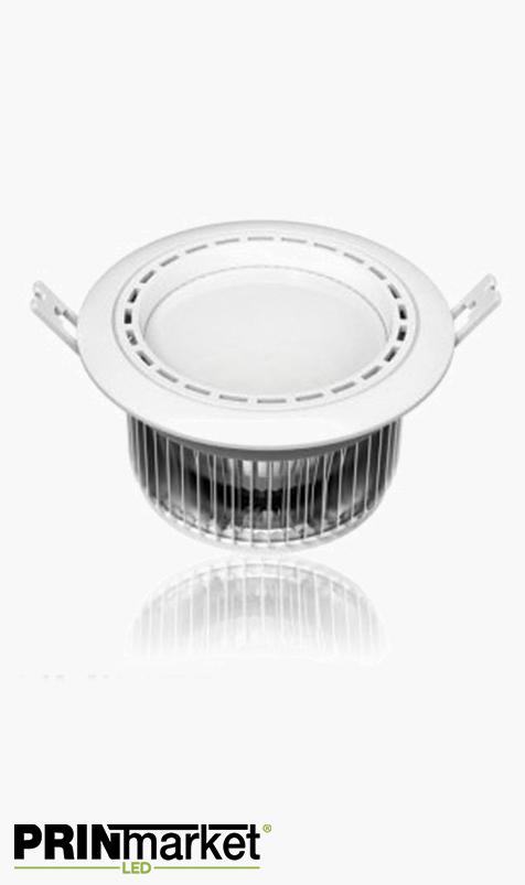 Kit Plafonnier LED encastrable - 15 watts (équiv. 80w) - Diam. 145 mm