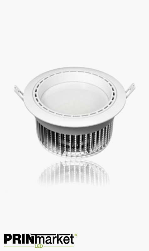 Kit Plafonnier LED encastrable - 18 watts (équiv. 95w) - Diam. 195 mm