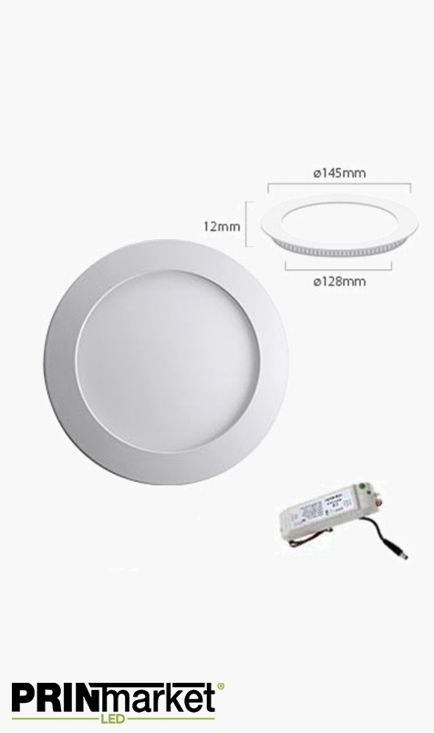 Kit Plafonnier LED Extra-plat rond - 9 watts - Diam. 145 mm