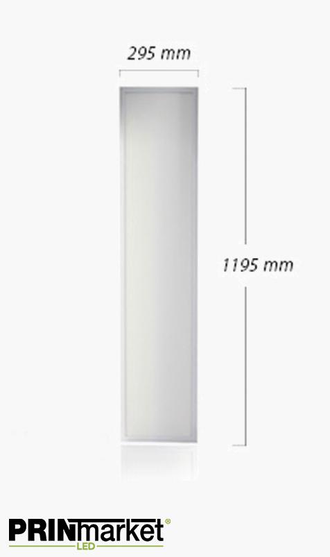 Panneau lumineux LED 40 watts - 300 x 1200 mm
