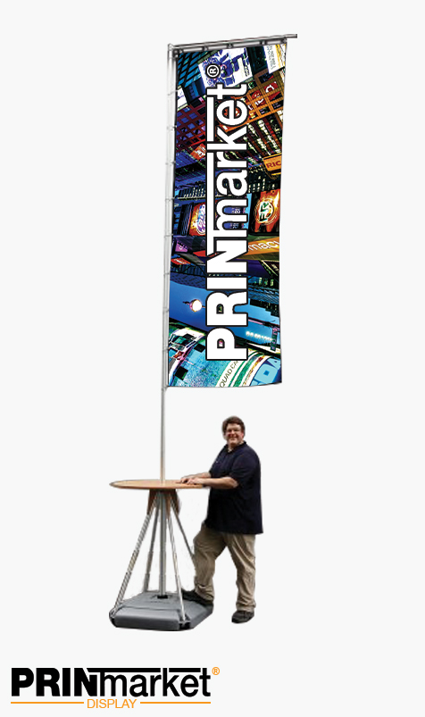 Drapeau Mobile 540 cm + table